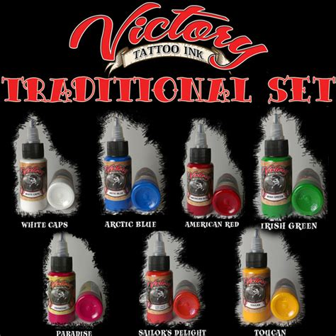 victory tattoo ink victory ink usa made traditional set inkset