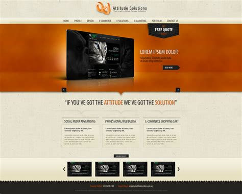 Web Design Template By Victorydesign On Deviantart Web Design Template