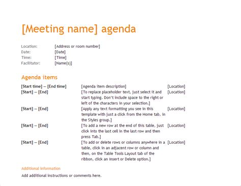 25 Microsoft Templates For Running Small Business Microsoft Office Agenda Templates