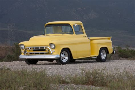 chevy chevrolet pickup 1957 chevrolet pickup father son 1 2 ton hot rod network