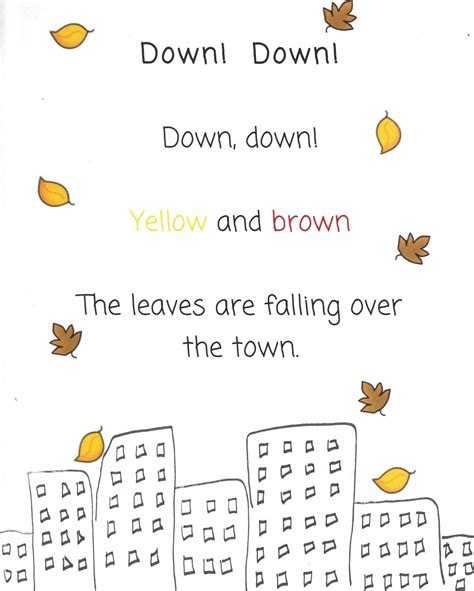 poems for kindergarten the busy kindergarten october poems for poetry box