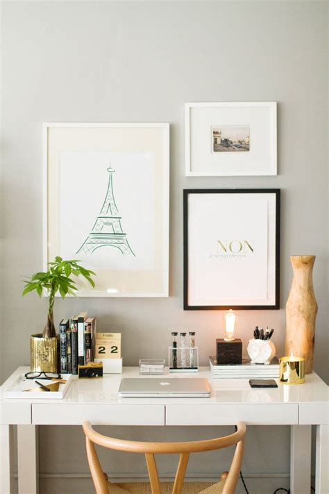 grey and gold desk how to style the elm parsons desk space photography