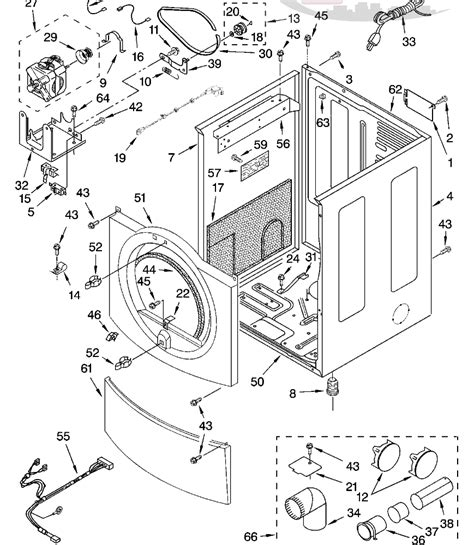 frigidaire electric dryer parts diagram wiring diagram