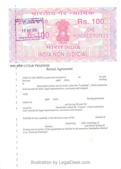 rent agreement template india make a rental agreement in noida rest of up