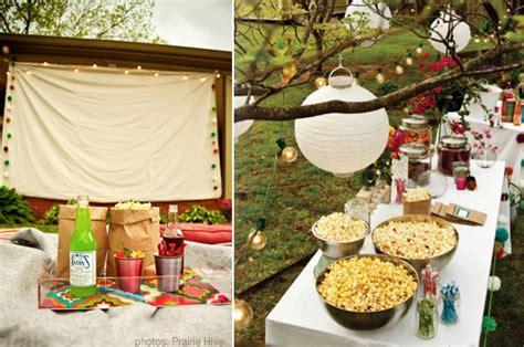 backyard birthday ideas host an outdoor movie night at home with kim vallee