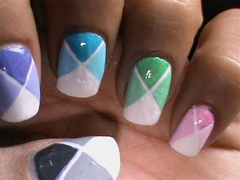 color blocking nail designs for beginners to do at