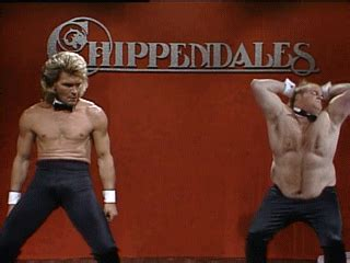 Male Stripper Meme - chris farley snl gif find share on giphy