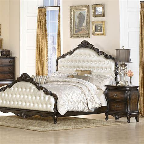 headboard sets bedroom wonderful chic decor with cream laminated and