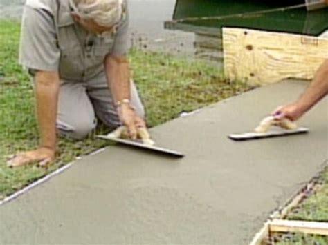 How To Build Pour Concrete how to pour a concrete walkway how tos diy