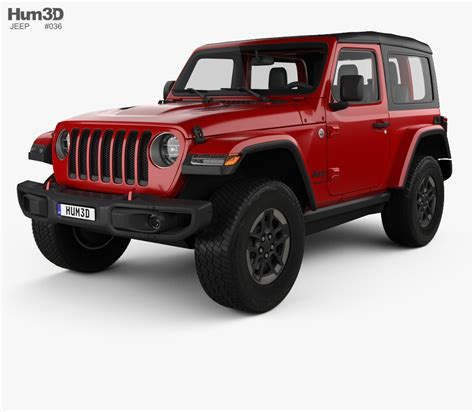 2018 jeep wrangler rubicon jeep wrangler rubicon 2018 3d model hum3d