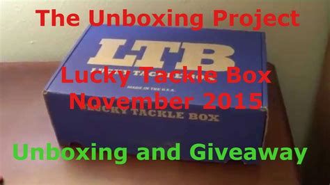 Free Tackle Giveaway - lucky tackle box november 2015 unboxing giveaway free fishing tackle youtube