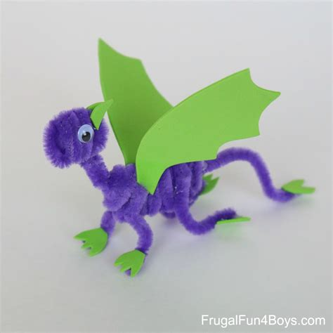 pipe cleaner crafts pipe cleaner dragons craft for frugal for boys