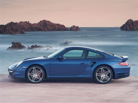 blue porsche 2007 blue porsche 911 turbo wallpapers