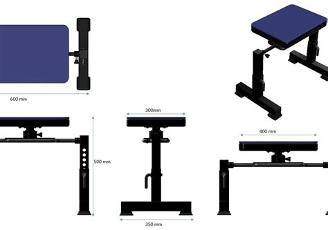 hip thrust bench gym rotary bench for hip thrust cad files dwg files