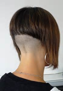 www ponytail with high nape shave haircut aline with high shaved nape short bob haircuts