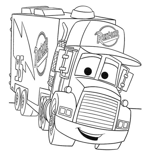 Semi Coloring Pages by Semi Truck Coloring Pages To And Print For Free