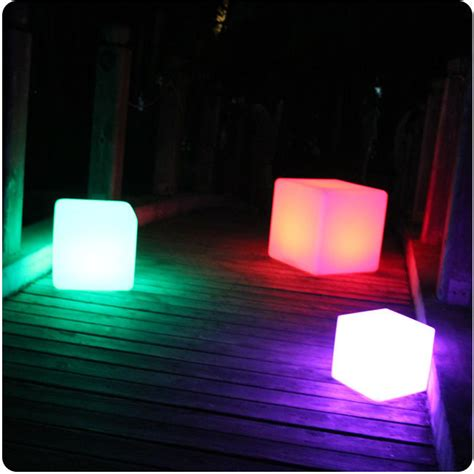 25cm party event illuminated cube chair led light up