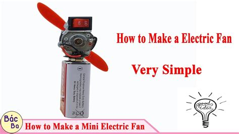 how to make electric fan how to make a mini electric fan how to make a electric