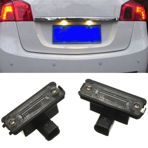 license plate light assembly 2x universal license plate light number plate lamps for vw
