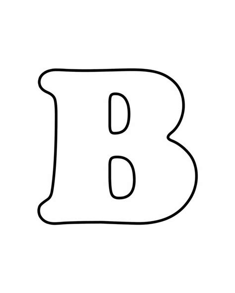coloring pages of letter b free printable alphabet letters to color letter b