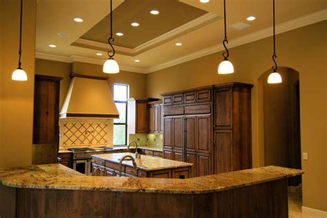 Adding An Island To An Existing Kitchen by Installing Recessed Lighting In Finished Ceiling House