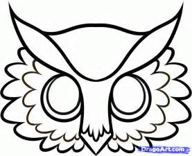 Owl Mask Template by Owl Printable Template Coloring Home