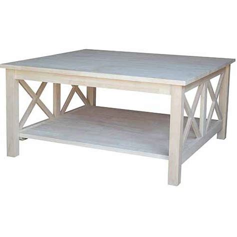 or square coffee table international concepts ot 70sc hton square coffee table ready to finish walmart