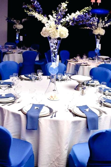 blue and silver centerpieces silver blue blue silver
