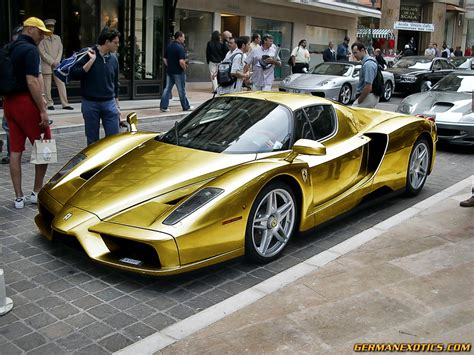 24k Gold Lamborghini Enzo New Car Price Specification Review Images