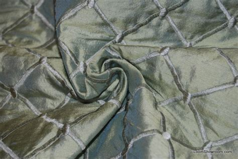 hd56 fabulous dupioni silk mint green quilted and