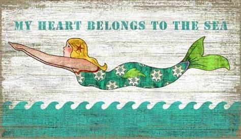 quot mermaid quot custom wooden sign coastal home decor beach vintage swimming mermaid sign