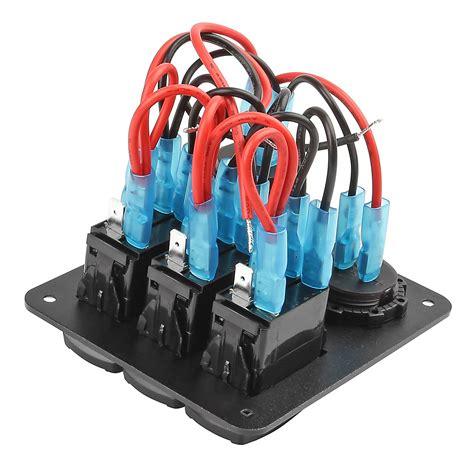 marine switch panel canada 3 gang new black toggle switch panel waterproof marine car