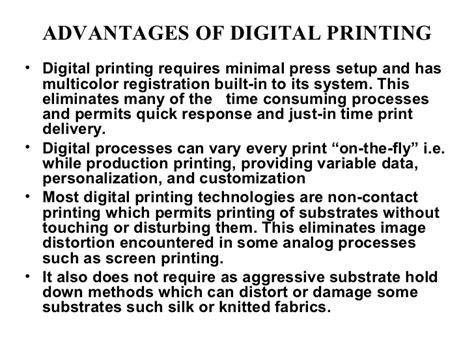 Digitaldruck Vorteile by 2 Analog And Digital Priniting