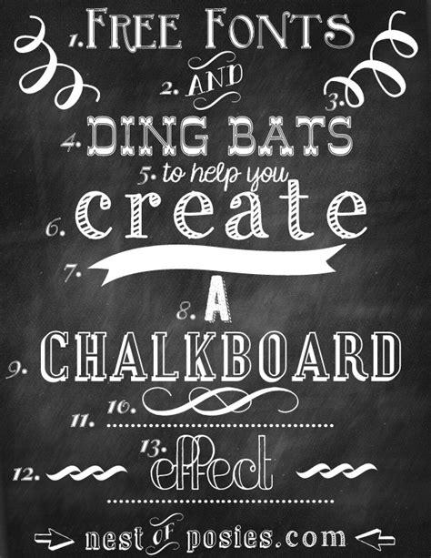 chalkboard diy fonts best 25 free dingbat fonts ideas on dingbat