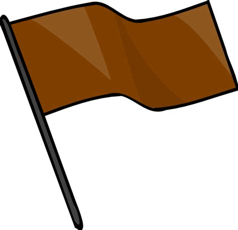 Flag Brown brown flag clip at clker vector clip royalty free domain