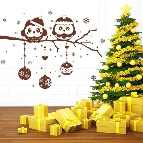 was ist lavendel 4956 weihnachts eulen mit weihnachtskugeln wandtattoo