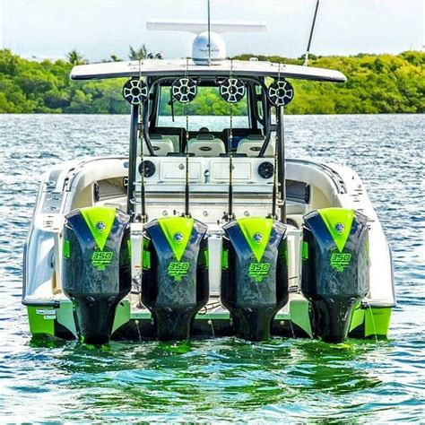 center console boats 4 engines great photo by inletville lime green quad outboards on