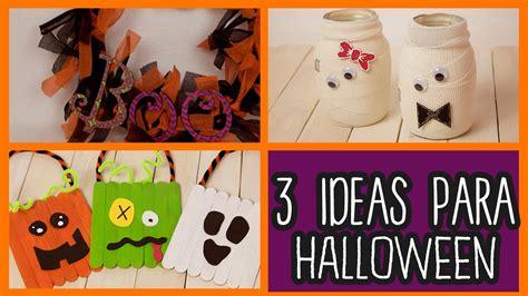 decoraciones de halloween decoraciones para halloween 3 ideas f 225 ciles manualidades