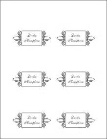 place card template free place card template eknom jo