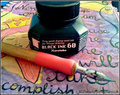 dipping tattoo needle in ink zig cartoonist ink and dip pen by kuretake uk zoe