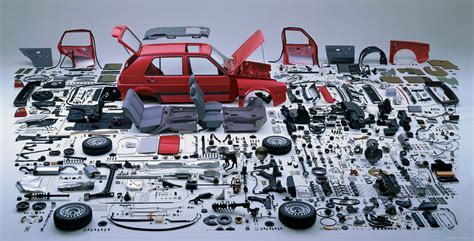 volkswagen golf gti parts picture of the day meticulously dismantled vw golf