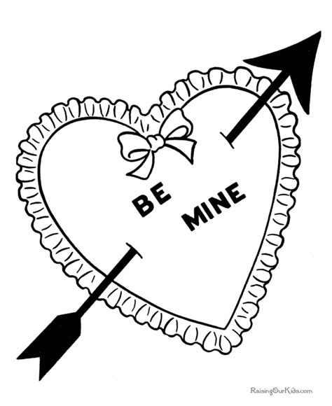 valentine cupid free colouring pages