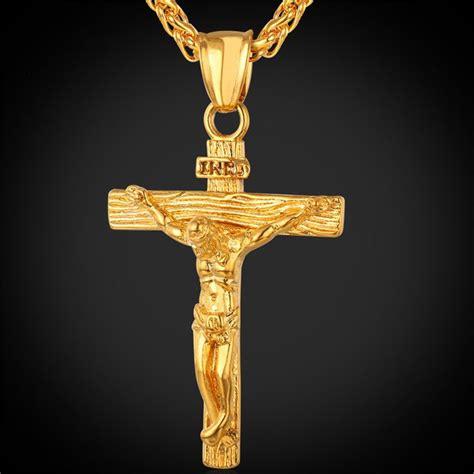 High Quality Kalung Rantai Titanium Gold Emas Pria Wanita Cewek gold chain jesus trendy 18k gold plated stainless