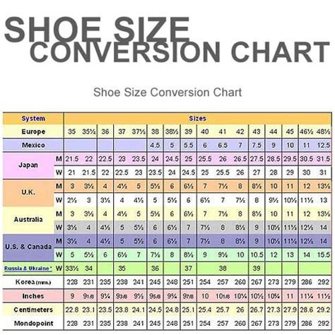 shoe size conversion european shoe size conversion to canadian