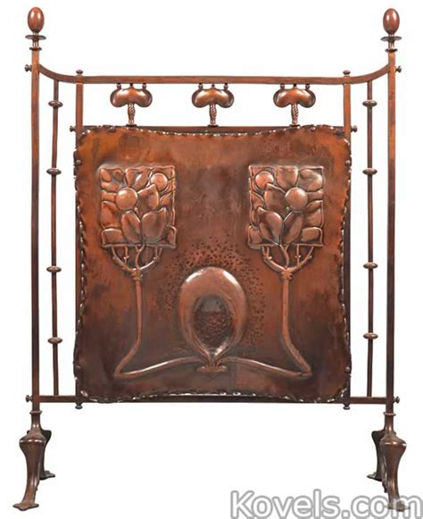 Copper Fireplace Screen Antique Fireplaces Silver Pewter Brass Copper Chrome