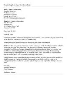Help Cover Letter by Help Desk Cover Letter Sle Best Help Desk Cover
