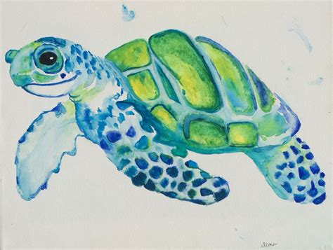 watercolor tattoo turtle watercolor turtle craft autographed