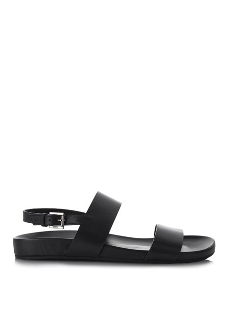 Gucci Buckle Sandals by Gucci Buckle Fastening Leather Sandals In Black For Lyst