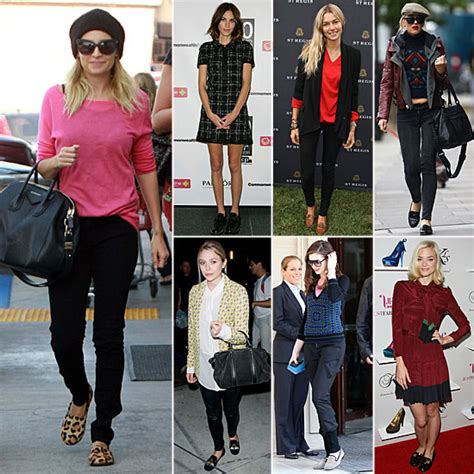 celebrity women wearing loafers celebrities wearing loafers fall 2011 popsugar fashion