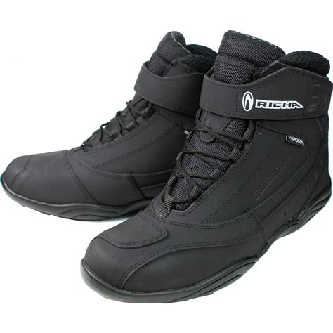 short black motorcycle boots richa slick waterproof ankle boots boots ghostbikes com